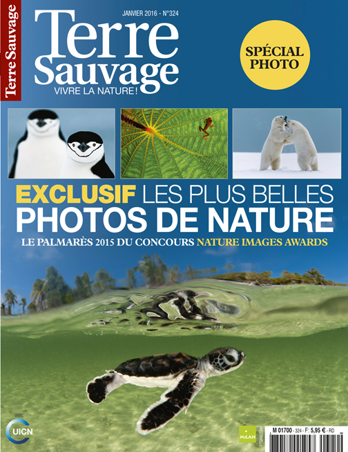 Terre Sauvage Magazine Cover Jan 2016